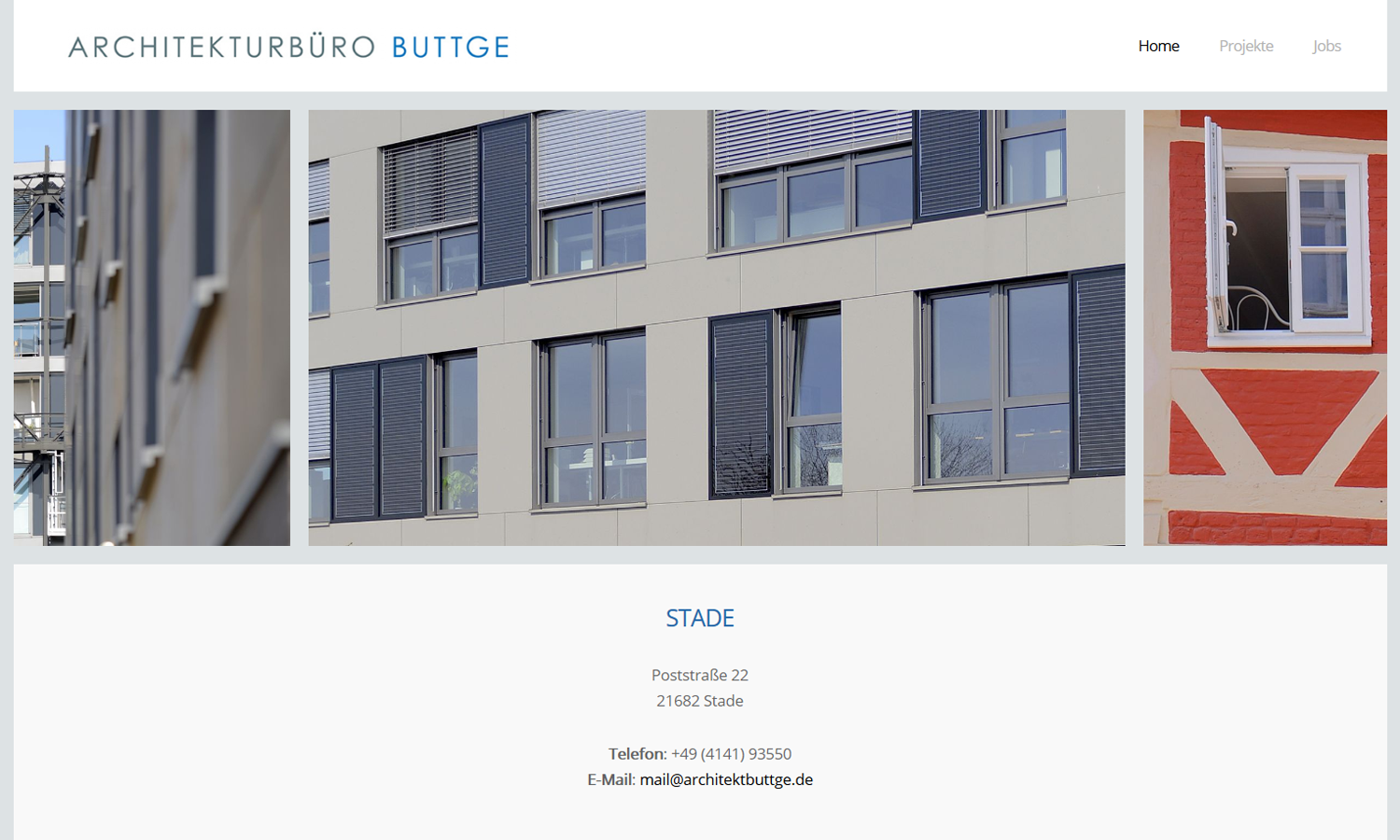 Webseiten Buttge Architektur